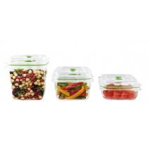 FoodSaver Zestaw pojemników do przechowywania próżniowego FRESH 700ml, 1,2l, 1,8l FFC020X