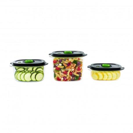 Zestaw 3 pojemników do przechowywania próżniowego FoodSaver Fresh 2.0, FFC026X - 0.7l + 1.2l + 1.9l
