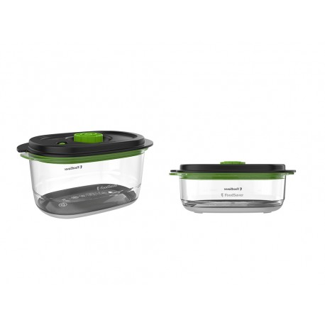 Zestaw 2 pojemników do przechowywania próżniowego FoodSaver Fresh 2.0 FFC025X - 0.7l +1.18l